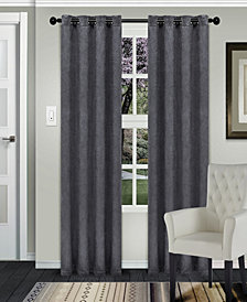 "Superior Waverly Textured Blackout Curtain, Set of 2, 52"" x 63"""