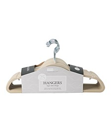 25 Pack Slim Velvet Suit Hangers in Ivory