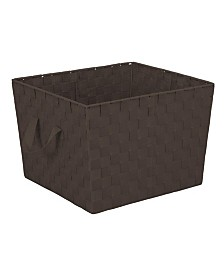 Simplify Large Woven Storage Bin in Chocolate