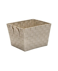 Small Woven Storage Bin in Ivory