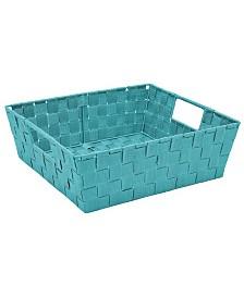 Simplify Large Woven Storage Bin in Sapphire