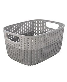 Simplify 2-Tone Decorative Medium Storage Basket in Gray