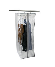Simplify Crystal Clear Hanging Suit Closet