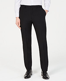DKNY Men's Modern-Fit Stretch Black Solid Suit Pants