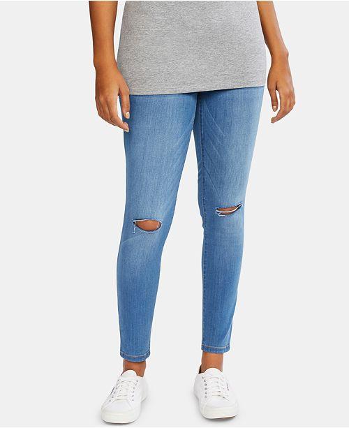 Motherhood Maternity BOUNCEBACK Post Pregnancy Destructed Skinny Jeans