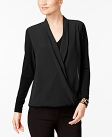 Petite Surplice Top, Created for Macy's