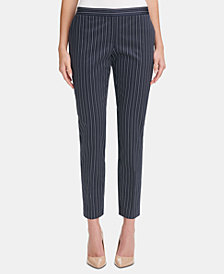 Tommy Hilfiger Radcliff Striped Slim-Leg Pants
