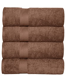 Elegance Spa Oversized Luxurious Cotton Oversized Bath Sheets (Set of 4)