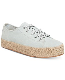 Madden Girl Cannes Flatform Lace-Up Espadrille Sneakers
