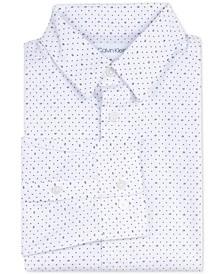 Big Boys Slim-Fit Stretch Logo Dot-Print Dress Shirt