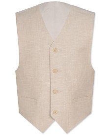 Calvin Klein Big Boys Slim-Fit Textured Suit Vest