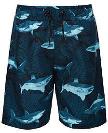 Ideology Toddler Boys Shark-Print Swim Trunks, Created for Macy's