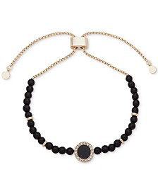 DKNY Pavé & Stone Beaded Slider Bracelet, Created for Macy's