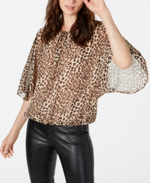 Vince Camuto Tops ANIMAL-PRINT BATWING TOP