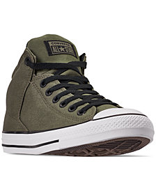Converse Men's Chuck Taylor All Star High Street High Top Uniform Canvas Casual Sneakers from Finish Line