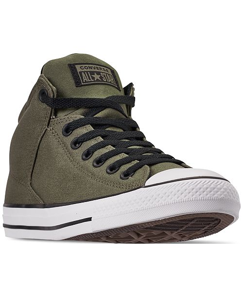 ... Converse Men s Chuck Taylor All Star High Street High Top Uniform Canvas  Casual Sneakers from Finish ... c334721dd