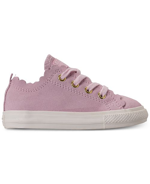 c15356a790bf ... Converse Toddler Girls' Chuck Taylor All Star Low Top Frilly Thrills  Casual Sneakers ...