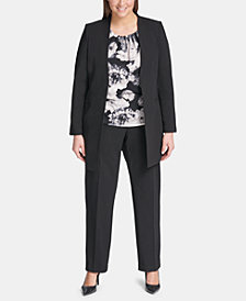 Calvin Klein Plus Size Topper Jacket, Straight-Leg Pants & Blouse