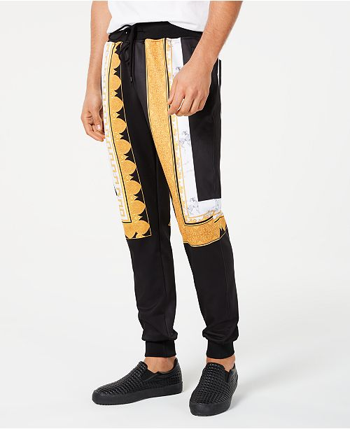 Reason Men's Marble & Gold Track Pants