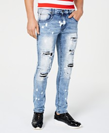 Reason Men's Inwood Slim-Fit Ripped Jeans