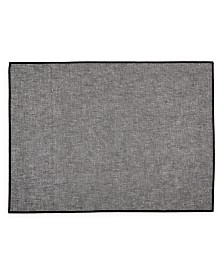 Hotel Collection Overlock Edge Placemat, Gray, Created for Macy's