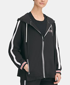 DKNY Sport Zip Swing Hooded Jacket, Created for Macy's