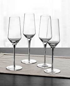 Hotel Collection Black Stem Champagne Glasses, Set of 4, Created for Macy's