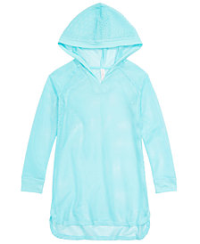 Ideology Big Girls Hooded Mesh Swim Cover-Up, Created for Macy's