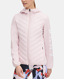 DKNY Sport Quilted Hooded Running Jacket, Created for Macy's