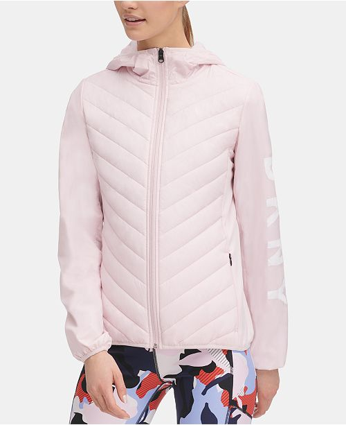 DKNY Sport Quilted Hooded Running Jacket