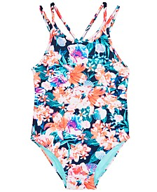 Ideology Toddler Girls 1-Pc. Floral-Print Swimsuit, Created for Macy's