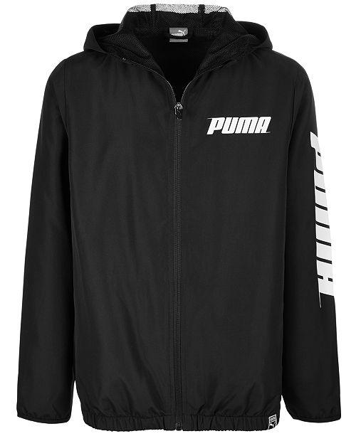 Puma Big Boys Hooded Zip-Up Jacket