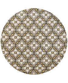 "KAS Harbor Mosaic 7'6"" Indoor/Outdoor Round Area Rug"