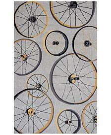 Sonesta Wheels In Motion 2035 Gray Area Rug