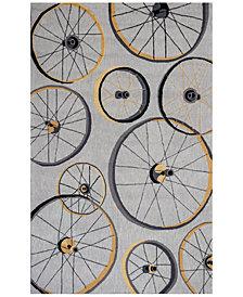 KAS Sonesta Wheels In Motion 2035 Gray Area Rug