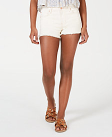 Celebrity Pink Juniors' Color-Wash Frayed Shorts