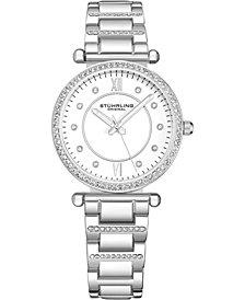 Stuhrling Original Women's Crystal Studded Bracelet Watch