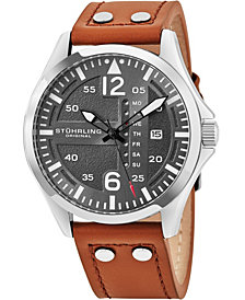 Stuhrling Original Men's Japan Quartz Luminous Pilot Watch