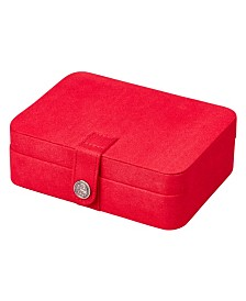 Mele & Co. Giana Plush Fabric Jewelry Box with Lift Out Tray