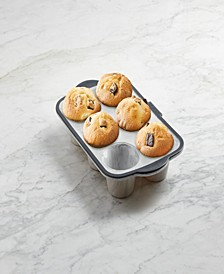 Structured Silicone 6 Count Muffin Pan Marble