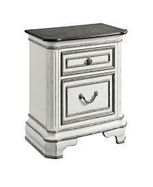 Caroline 2-Drawer Nightstand with USB