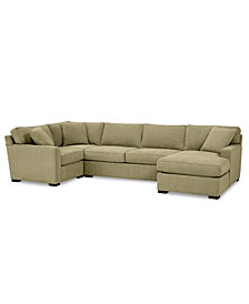 Radley 4-Pc. Fabric Chaise Sectional Sofa with Corner Piece - Custom Colors, Created for Macy's