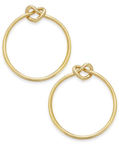 defd8a49a kate spade new york Gold-Tone Love Knots Large 1-2/3