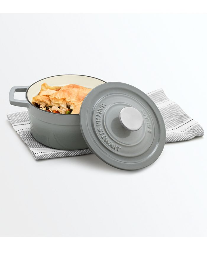 Martha Stewart Collection - Cast Iron Enameled 2-Qt. Round Covered Dutch Oven