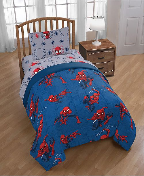 Marvel Mavel Spiderman Spidey Crawl Full Comforter