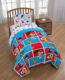 Elmo Cookie Squares Twin Comforter