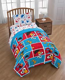 Sesame Street Elmo Cookie Squares Twin Comforter