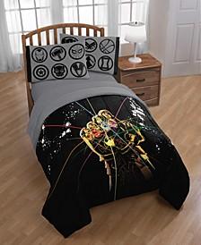 Avengers Infinity Wars Infinity Gauntlet Full/Queen Comforter Set