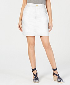 Petite Sateen Skort, Created for Macy's