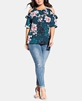 f95fd4fba55 City Chic Trendy Plus Size Jade Blossom Top